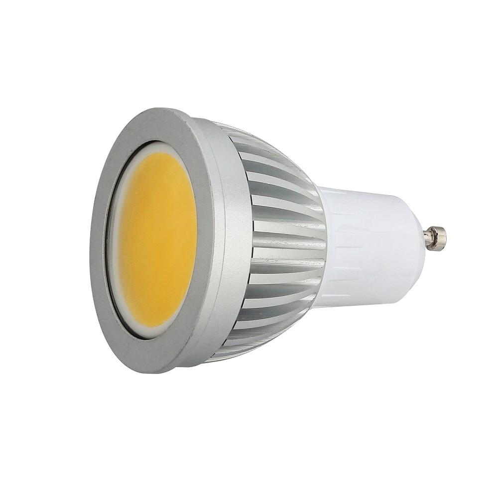100pcs 7w GU10 LED COB SpotLight Bulb light Cool White/Warm White AC85-265V lamp Lighting Epistar