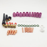 49Pcs TIG Gas Lens Collet Body Assorted Size Kit For TIG Welding Torch WP 17/18/26 TIG Welding Torches Tools Set