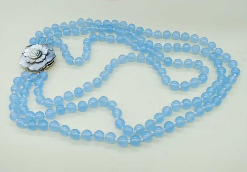 Не-001 # Бесплатная доставка классический 3 слоя бразильский полудрагоценных камней ожерелье