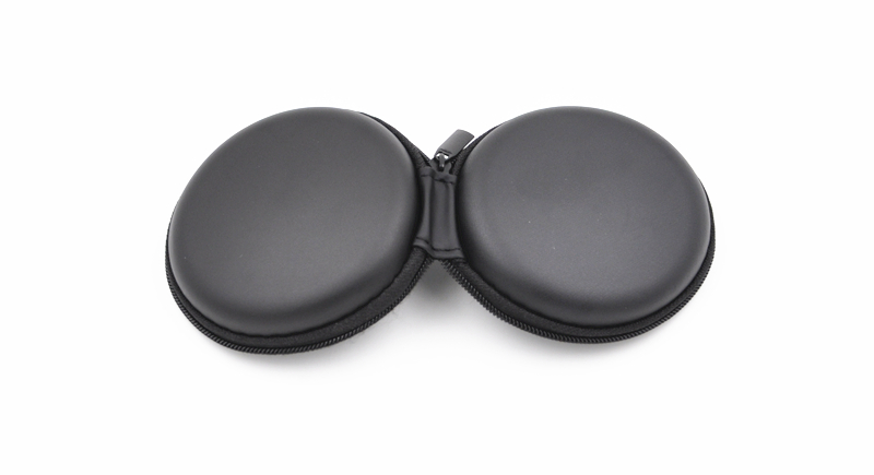 Wooeasy Earphone Accessories Cheap Black Case Bag,Earphone Earbuds Collect Box,Coin Case Bag