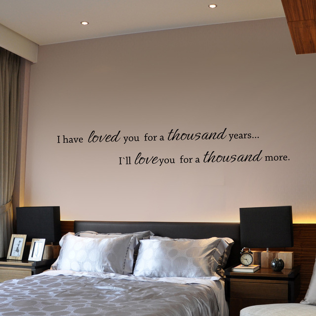 I have loved you a thousand years couple bedroom wall for Bedroom wall designs for couples