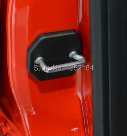 Auto Door Lock Buckle Cover,shock Absorber Pad For Ford Ecosport 2013 2014 2015,5pcs/lot,car Styling