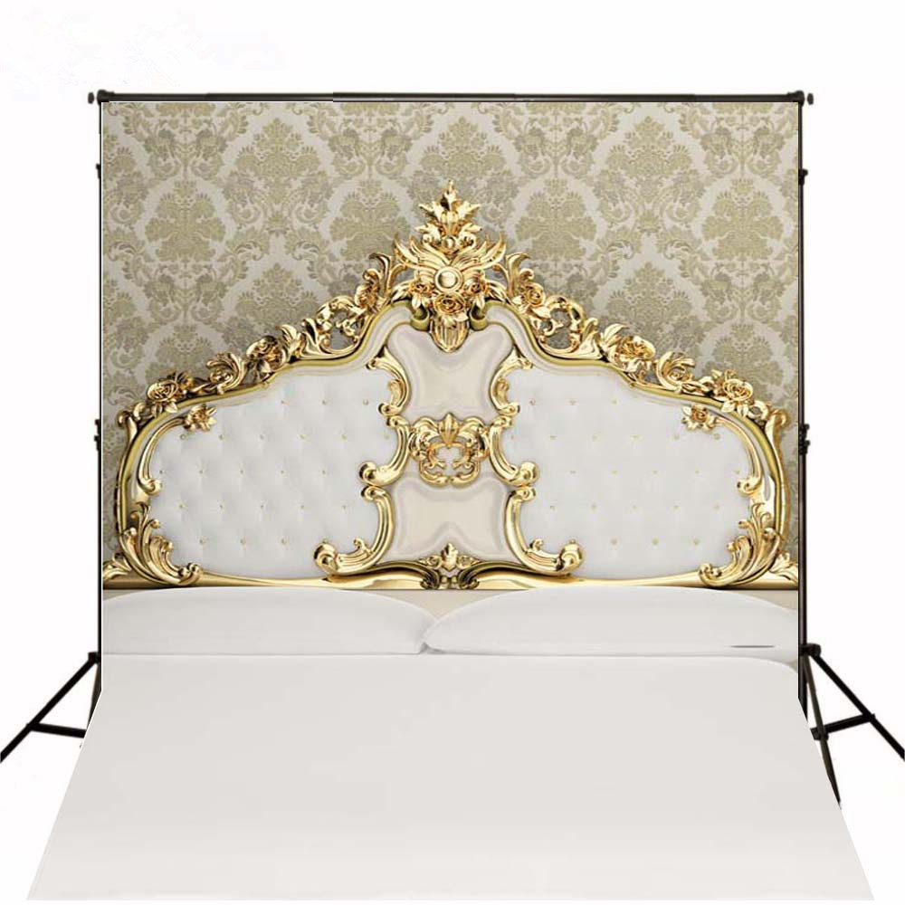 5*6.5ft  European Flowers Printed Wall Newborn Baby Photography Backdrops White Bed Background for Photo Studio Kids Photos цена и фото