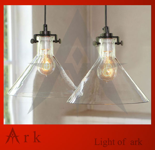 ark light single clear glass bell pendant light fashion brief bedroom lamps american style coffee room bar tea house