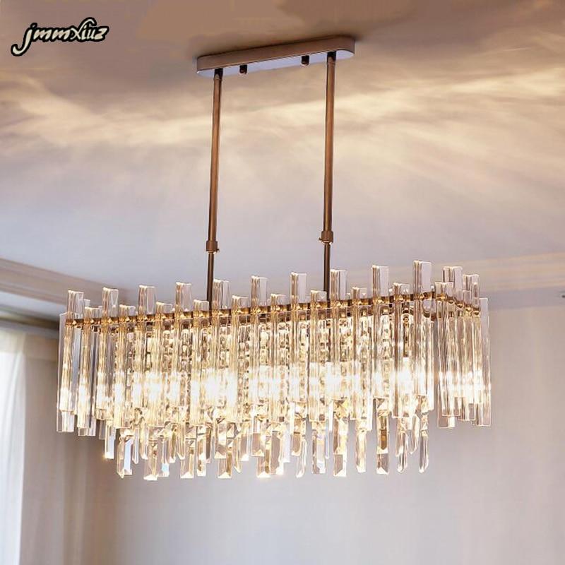 Jmmxiuz New Rectangular Pendant Lights Modern Lamp Ac110v: Jmmxiuz Crystal Chandelier Modern Rectangular Restaurant