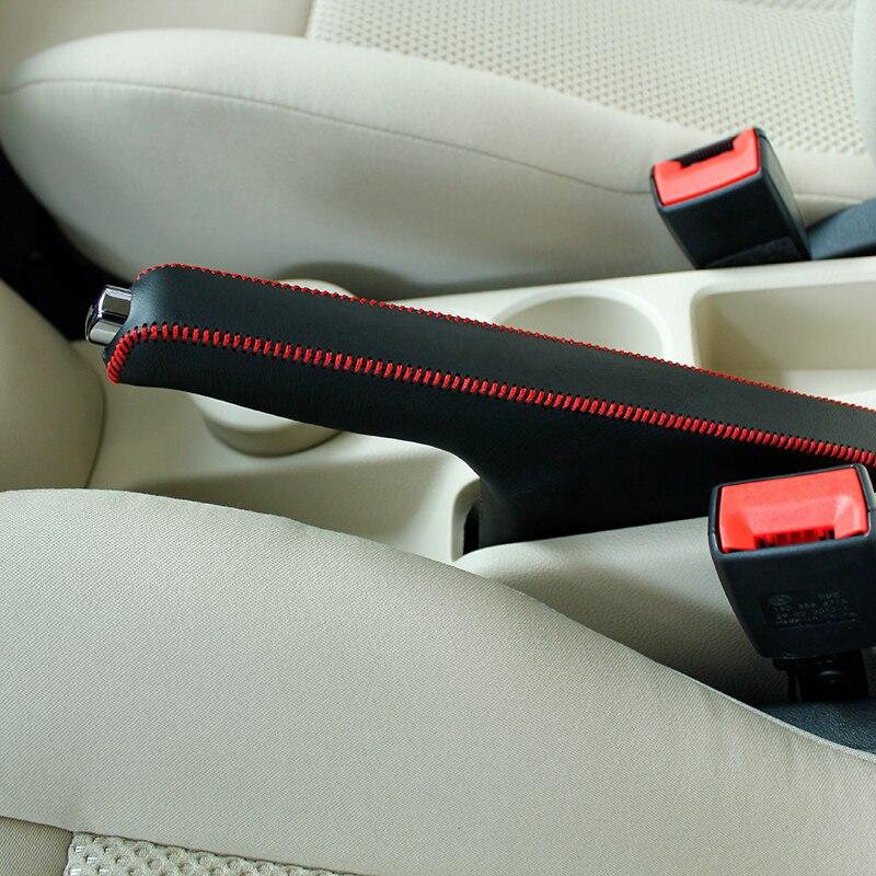 LS AUTO Top Genuine Leather Case For Handbrake For Volkswagen Lavida Hand Brake Cover Top Layer Leather Handbrake Cover