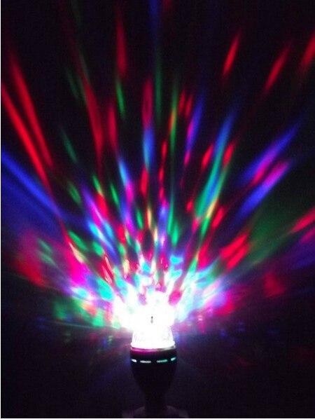 3W E27 Full Color RGB LED Auto Rotating Lamp Crystal DJ Party, Home Decoration Stage,christmas led Bulb 85-260V free shipping aosl w883 5 e27 8w 640lm 7 led rgb white auto rotating crystal stage light white ac85 260v