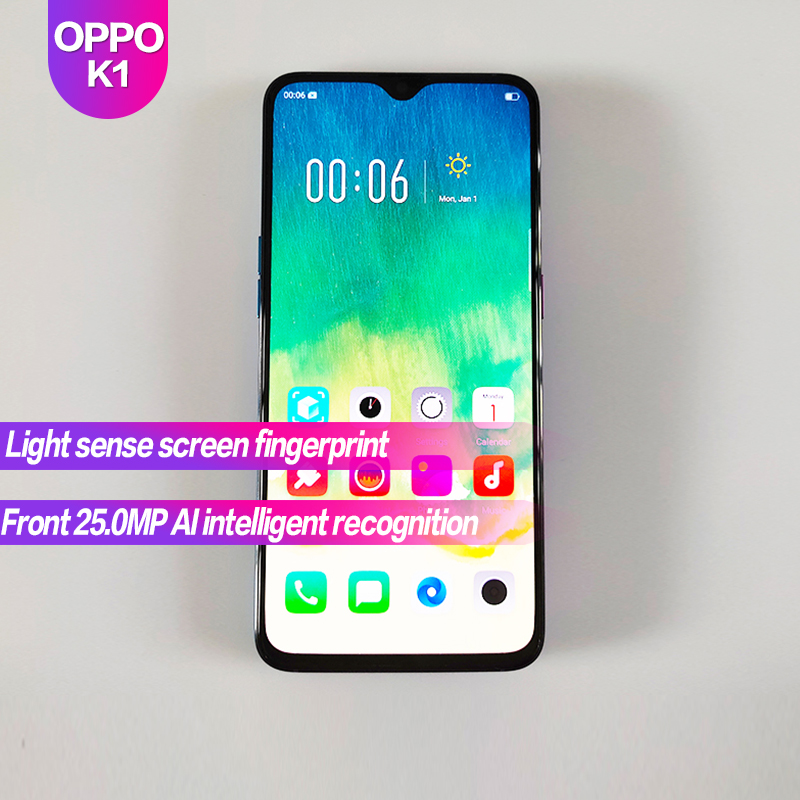 OPPO K1 Global Rom 6.4 Full Screen 3500mAh Fingerprint+Face ID 2340x1080 Octa Core 25MP+16MP SmartPhone Genuine OfficialOPPO K1 Global Rom 6.4 Full Screen 3500mAh Fingerprint+Face ID 2340x1080 Octa Core 25MP+16MP SmartPhone Genuine Official
