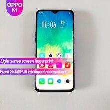 OPPO K1 глобальная прошивка 6,4 дюйма, разрешение Full Экран 3500 мА/ч, отпечаток пальца + Face ID 2340×1080 Octa Core 25MP + 16MP смартфон натуральная официальный