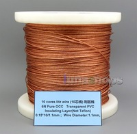 LN005659 10 cores litz wire Pure OCC Transparent PVC Insulating Layer(Not Tefl) 0.15*10/1.1mm Wire Diameter:1.1mm