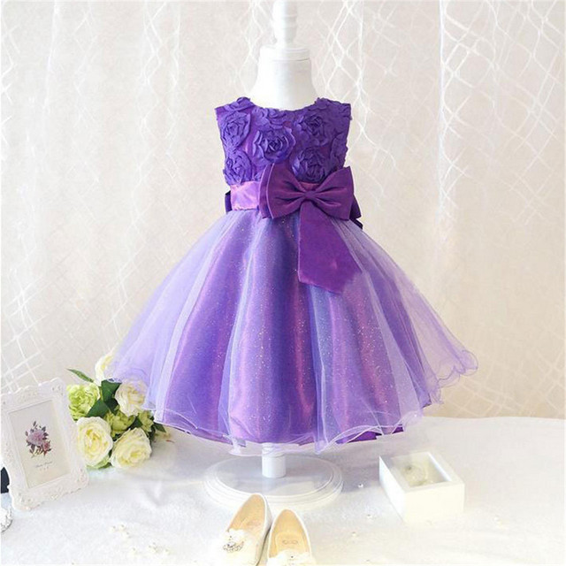 Kids Baby Girl Formal Dresses Clothing Tops Bow Party Cute Sleeveless Ball Gown Bowknot Dress Clothes Girls Lace Child Dresses #
