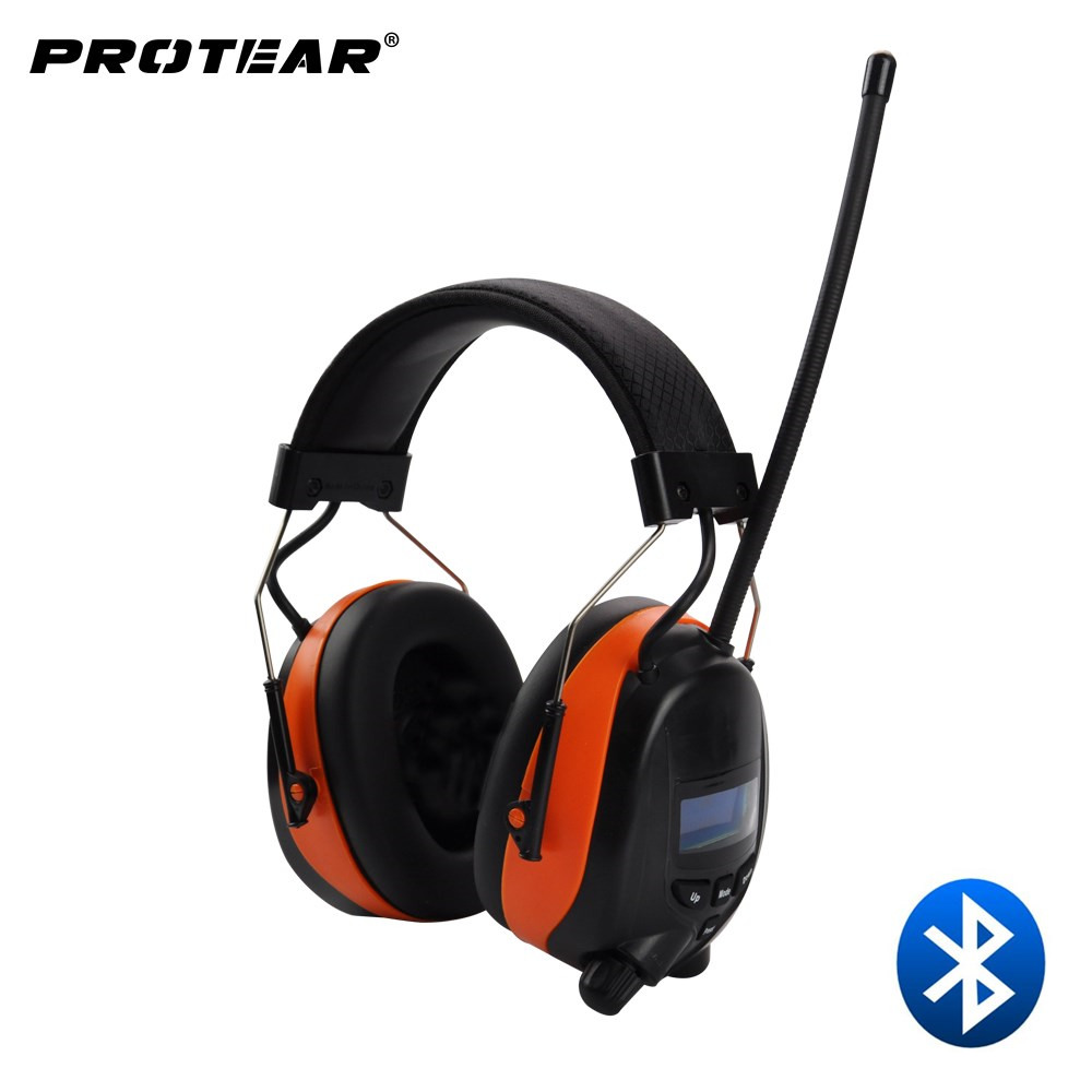Protear DAB DAB FM Radio Hearing Protector 25dB 800mAh Lithium Battery Earmuffs Electronic Bluetooth Headphone Ear