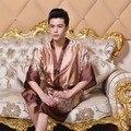 Homens Roupão De Seda Vestes de Cetim Quimono Longo Kimono Robe De Seda Roupão Roupão Adulto Roupas Casuais Casa