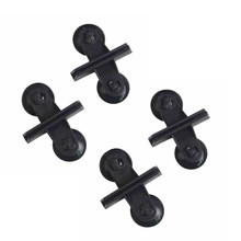 PETFORU 4Pcs Fish Tank Sucker Partition Clip Isolation Board Glass Pane Clamp for Aquarium - Black(China)