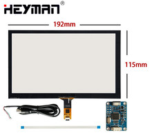 8 inch192mm 116mm Capacitive Touch Digitizer Raspberry Pi tablet PC GPS navigation Touch screen panel Glass