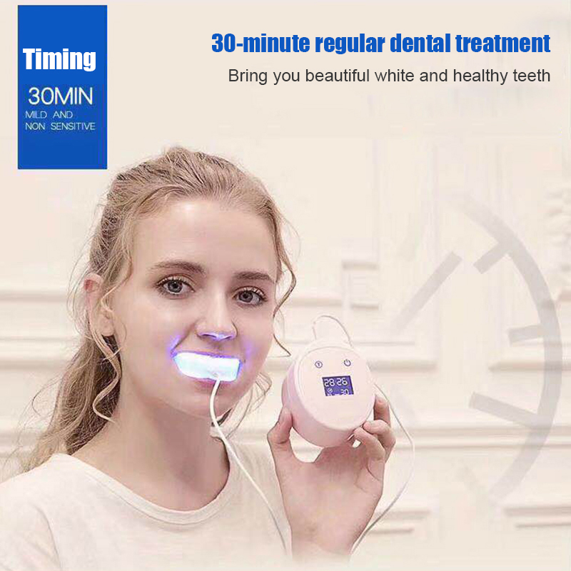 1 Set Led Family Mini Teeth Whitening Dental Cleaner LED Light  Laser Clean Beauty Instrument Health Oral Care