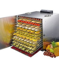 Stainless Steel Large Fruit Dryer Fruit Vegetable Food Dehydrator Dried Fruit Machine 15 Layer Baking Rack Energy Saving Mute