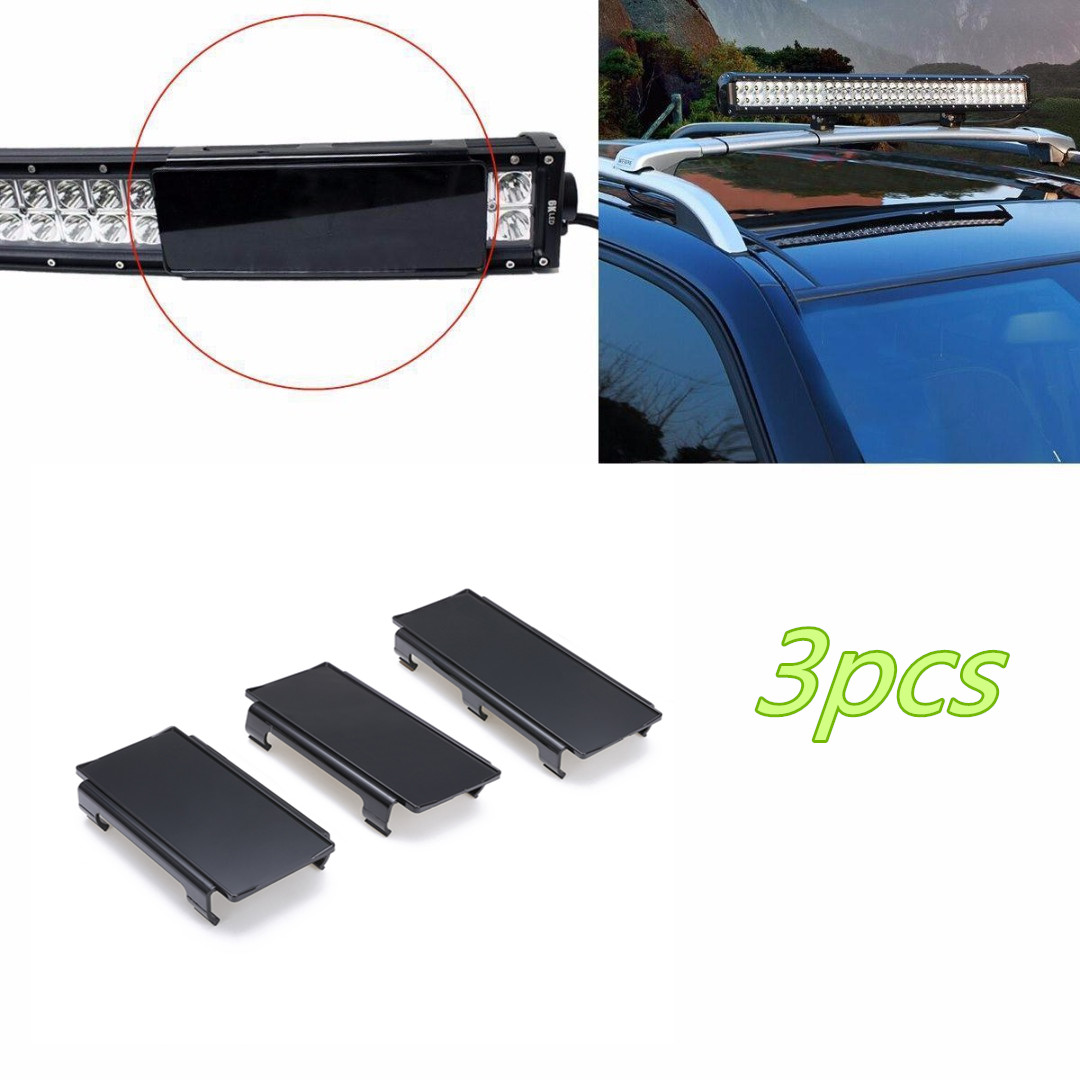 3pcs 8 + 6 Bar Lens Covers Set For Truck Offroad 4WD 4x4 Black Snap on LED Light Plastic High Quality Car Styling