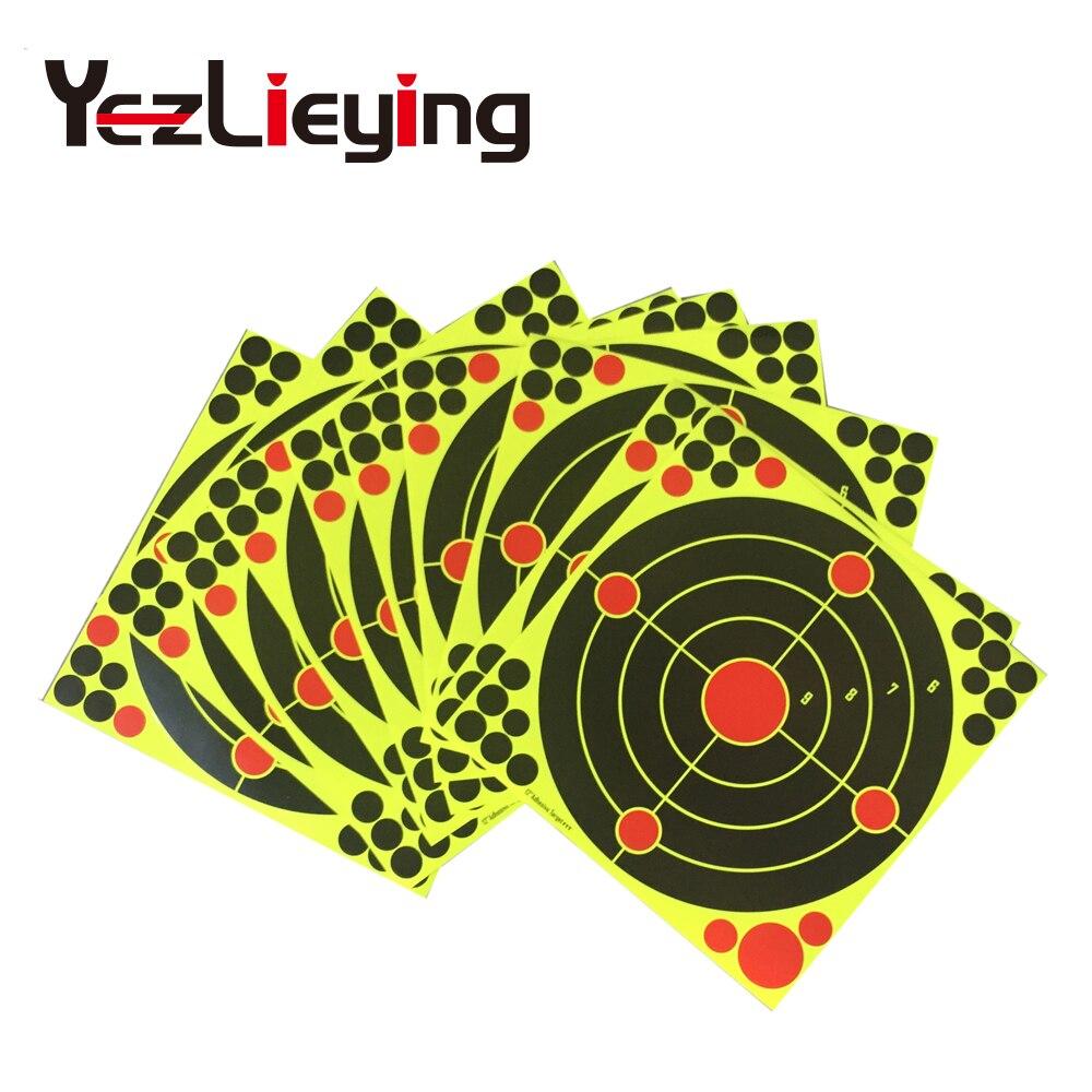 10pcs / lot 12-inch adhesive splatter flower target sticker 12 * 12 21 cover round patch reaction firing target for gun