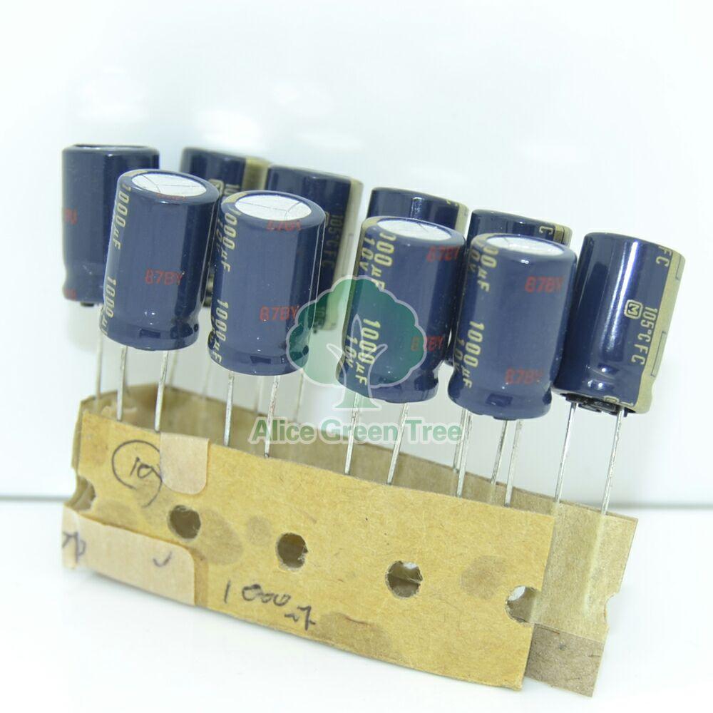 20pcs Matsushita Fc 1000uf 10v Electrolytic Capacitor 5684-in Inductors Home Improvement