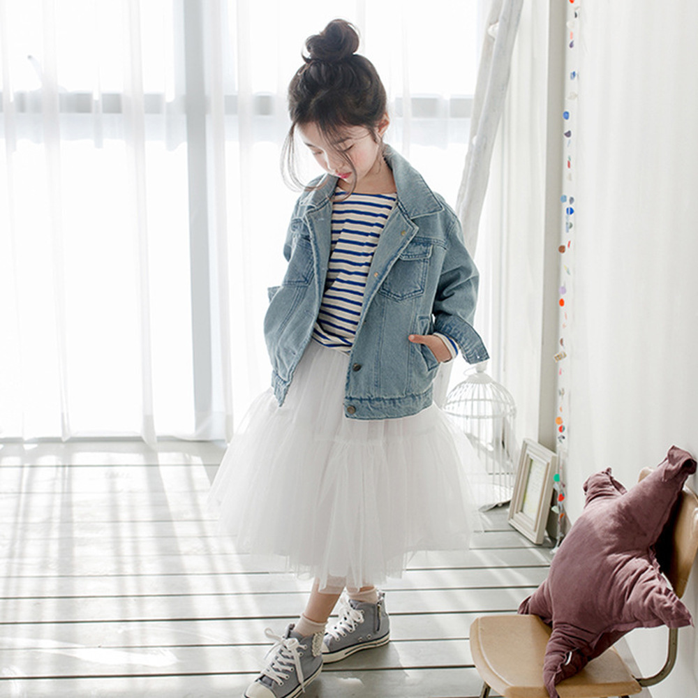 2pcs Outfit Kid Girl Stripe Tops Tee Shirt+Tulle Tutu Skirt Girls Clothing Set Kids Girls Outfits Girls Long Skirt Sets CA3551