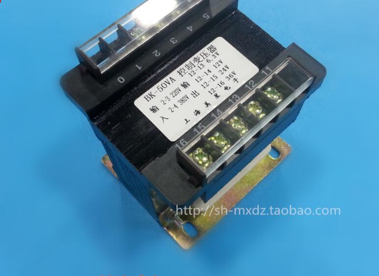6.3V-12V-24V-36V 1.3A Transformer 220V-380V input Isolation transformer 50VA Control transformer copper Safe anti-interference 380v 220v input control transformer 6v 12v 24v 36v output bk 600va small transformer