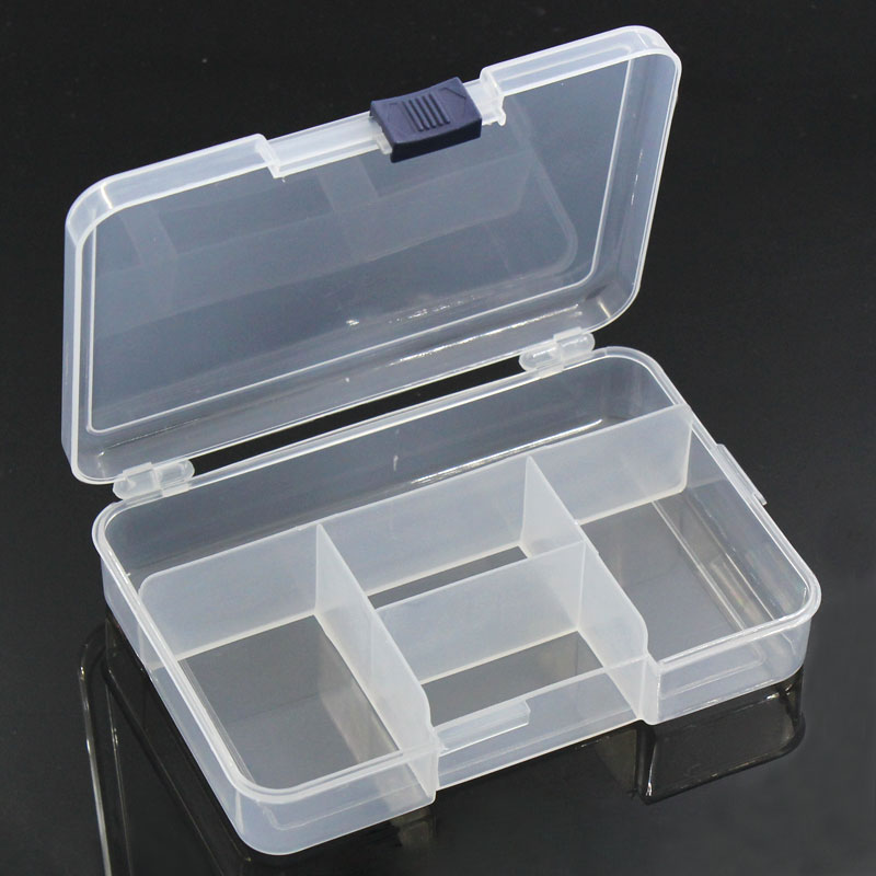 1pc Clear Plastic Storage Transparent Compartments