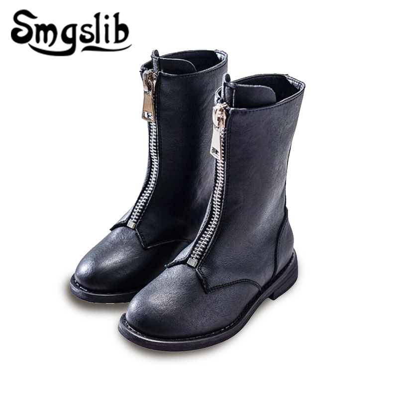 girl boots children ankle boots girls Child Genuine Leather girls shoes 2018 kids Warm toddler winter boots for teenage girls стоимость