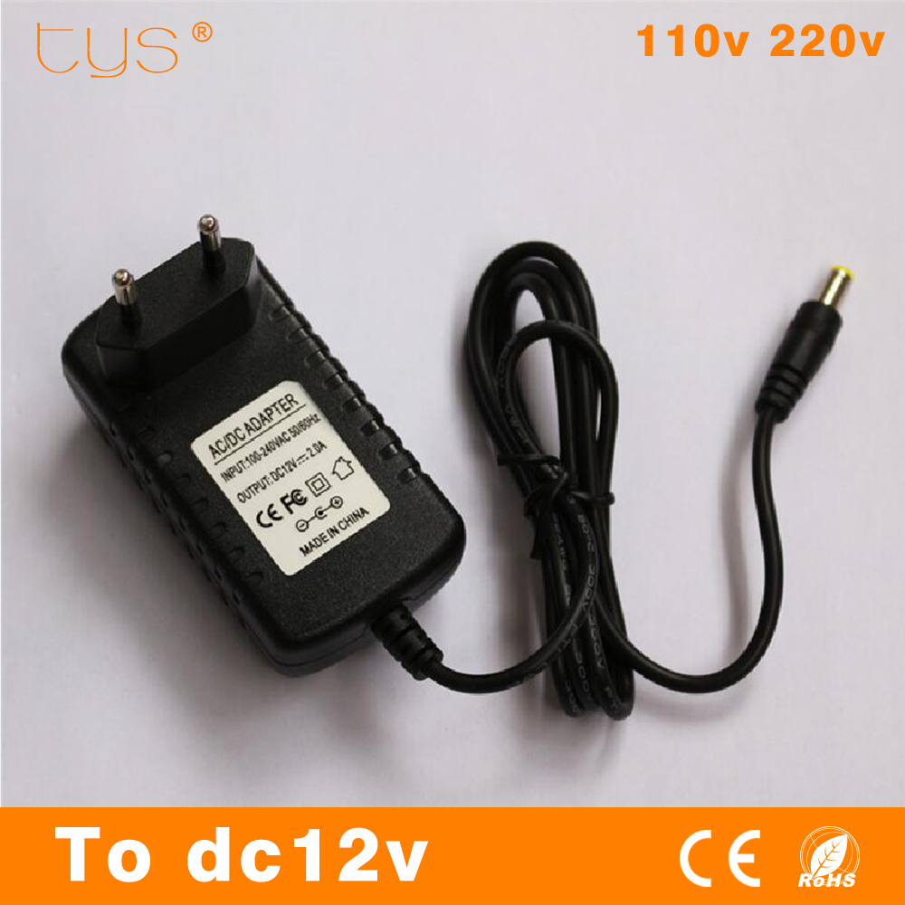 T.Y.S Lighting Factory Store Power Adapter 12V Supply Led Driver 12 B Transformer 220V in 12V 2A Driver For LED light Power supply Tape for computer Eu Plug
