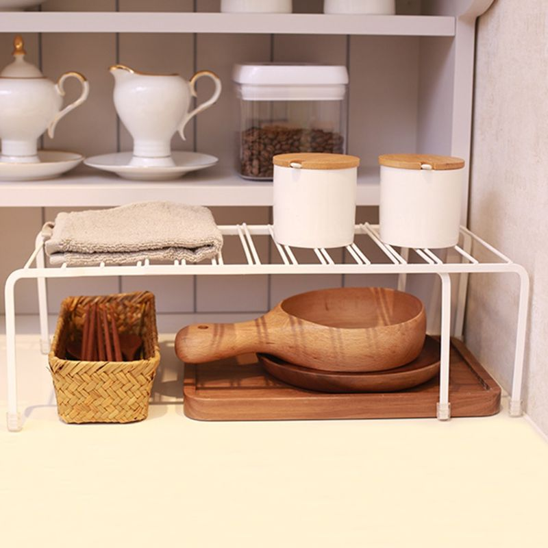 US $14.48 15% OFF|Expandable Kitchen Counter Cabinet Countertop Shelf  Organizer Rack Storage Bowl Adjustable Pantry-in Storage Holders & Racks  from ...