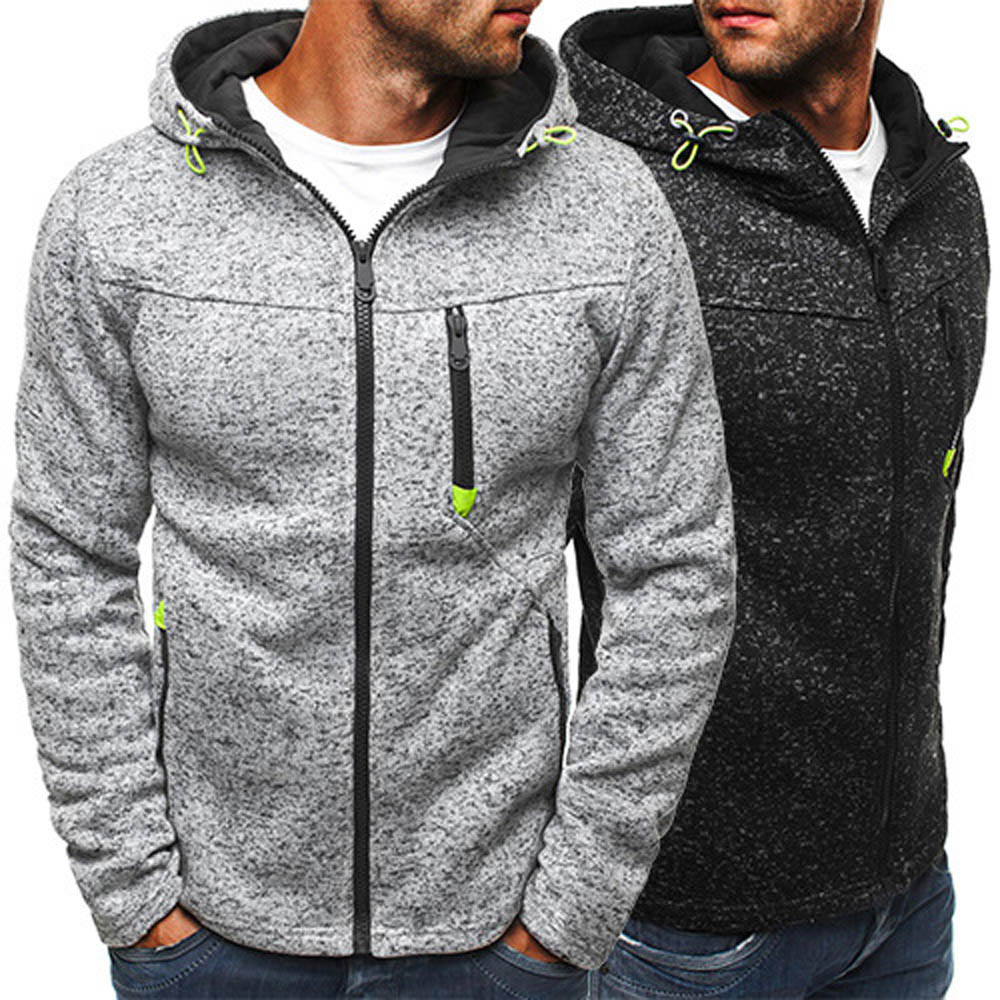 Jacket Men Pullover Coats Chaqueta Outerwear Zipper Cotton-Blend Slim Fashion Winter