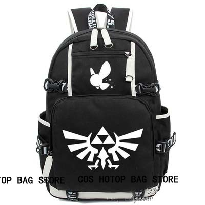 anime  The legend of zelda Backpack Cosplay Fashion Canvas Bag Luminous Schoolbag Travel Bags packsack anime the legend of zelda backpack bag school bag shoulder bag cosplay bag a style