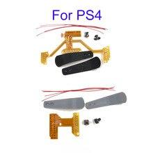 10 conjuntos para controle de ps4, placa de fita modding para interruptor de remo, kit de fio de botão para ps4 removedor v1 v3 w/paddles