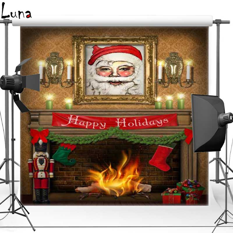 mehofoto vinyl photography background for children merry christmas fireplace new fabric flannel for family photo studio st313 in background from consumer