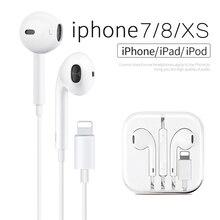 For Lightning Wired Stereo EarPods For Apple Earphone In Ear
