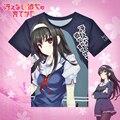 Anime Saekano: How to Raise a Boring Girlfriend T-shirt Utaha Kasumigaoka Polyester T Shirt Summer Active Fashion Men Women Tees