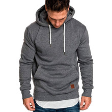 Free Shipping Fashion Mens Hoodie Casual Street Style Men Pure Color Simple Sweatshirt Dropshipping