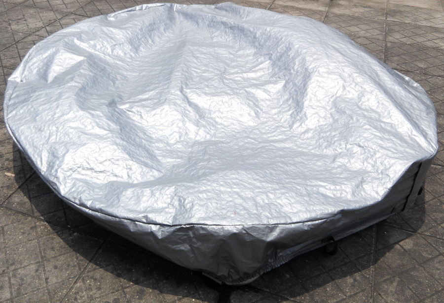 Round shape hot tub cover cap prevent snow, rain and dust,OD: 1600mm ...
