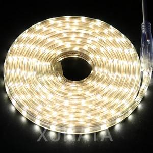 Image 4 - RGB HA CONDOTTO LA Luce di Striscia AC 220V SMD 5050 Flessibile Impermeabile del Nastro del LED 60LEDs/m Nastro per il Giardino 1M/2M/3M/4M/5M/6M/7M/8M/10M/15M/20M
