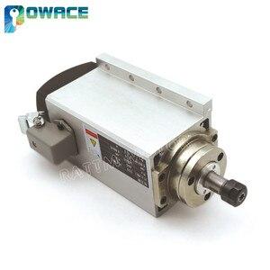 Image 3 - Motor de husillo refrigerado por aire cuadrado para enrutador CNC, 0,8 kW, ER11, 24000rpm, 400Hz, 6,5a