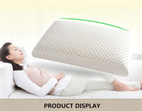 60 40cm Natural Latex Pillows Cervical Orthopedic Neck Pillow Sleep Protector Home Textile Bedding Product Latex