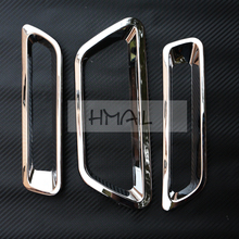 цена на FOR SUZUKI S-CROSS 2014 2015 FRONT REAR ABS chrome fog lamp car-styling plastic plating light hoods trim protect cover stickers