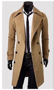 2017 Winter Men Trench Coat British Style Double Breasted Long Coat Men Brand Clothes Outdoors Overcoat