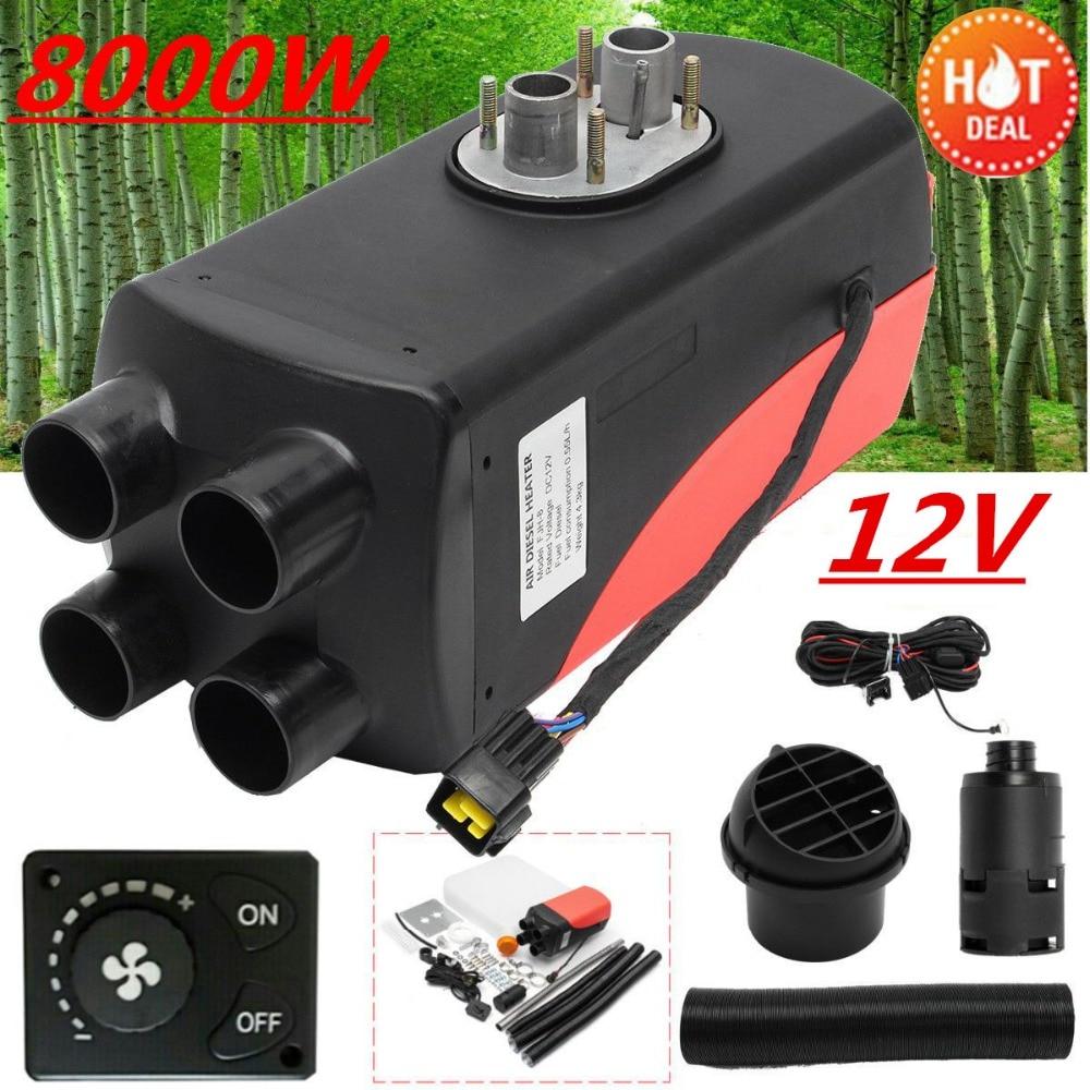8KW 12 В Air дизельного топлива нагреватель 4 отверстия автомобиля шины грузовики двигателя-дома лодки ручка переключателя