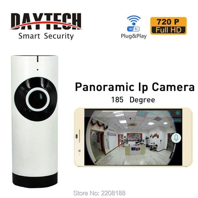 Daytech WiFi Câmera IP 720 P Câmera de Segurança Em Casa 185-Degree Baby Monitor Áudio Bidirecional Night Vision Network Monitor APPDT-C185