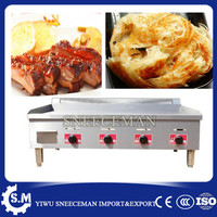 Commercial gas griddle grill flat plate teppanyaki griddle machine