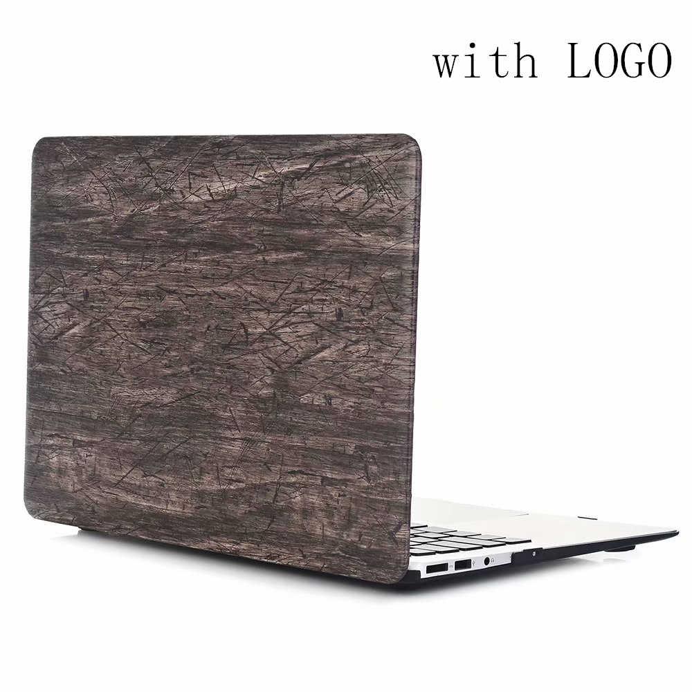 Étui rigide à motif de grain de bois pour Apple Macbook Air 13.3 11 pouces 2018 nouveau Pro13 15 avec Retina 12 13 étui pour ordinateur portable + housse de clavier