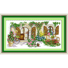Everlasting love Ideal house Chinese cross stitch kits Ecological cotton stamped printed 11CT DIY Christmas decorations for home