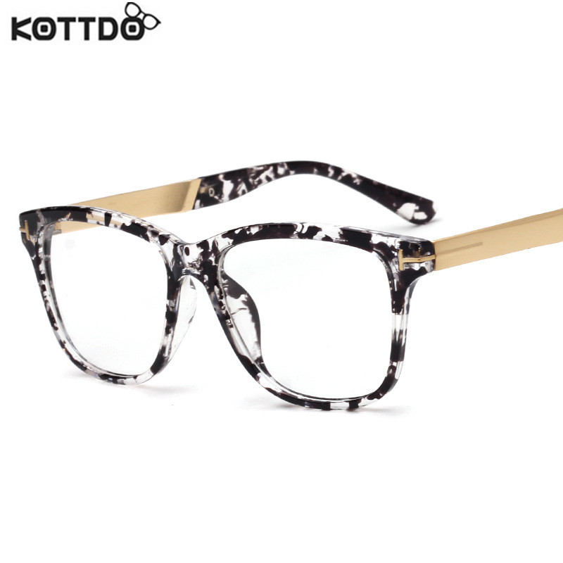 Glasses Frames Styles 2017 : KOTTDO 2017 Fashion Women Brand Designer Cats Eye Glasses ...