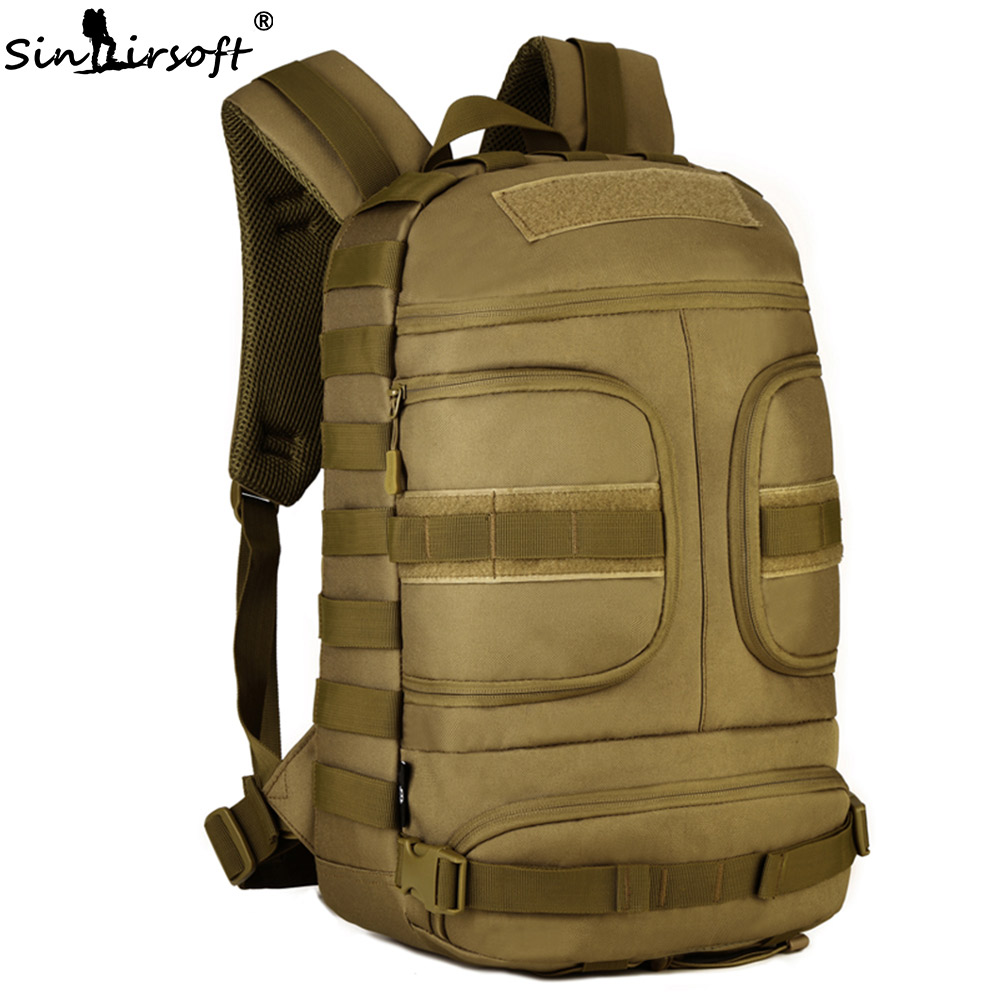 SINAIRSOFT 35L Nylon Tactical Backpack Waterproof 14 Inches Laptop Military Package Outdoor Sport Camping Hiking Camera Bags Bag sinairsoft 14 inch laptop tactical molle military backpack 800d nylon sports bag camping hiking waterproof men travel backpack